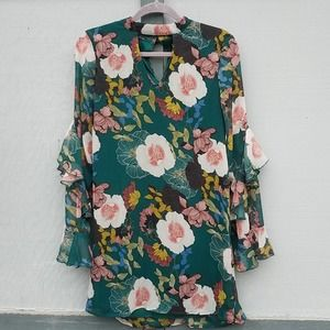 As You Wish | Long Sleeve Boho Floral Dress New! M